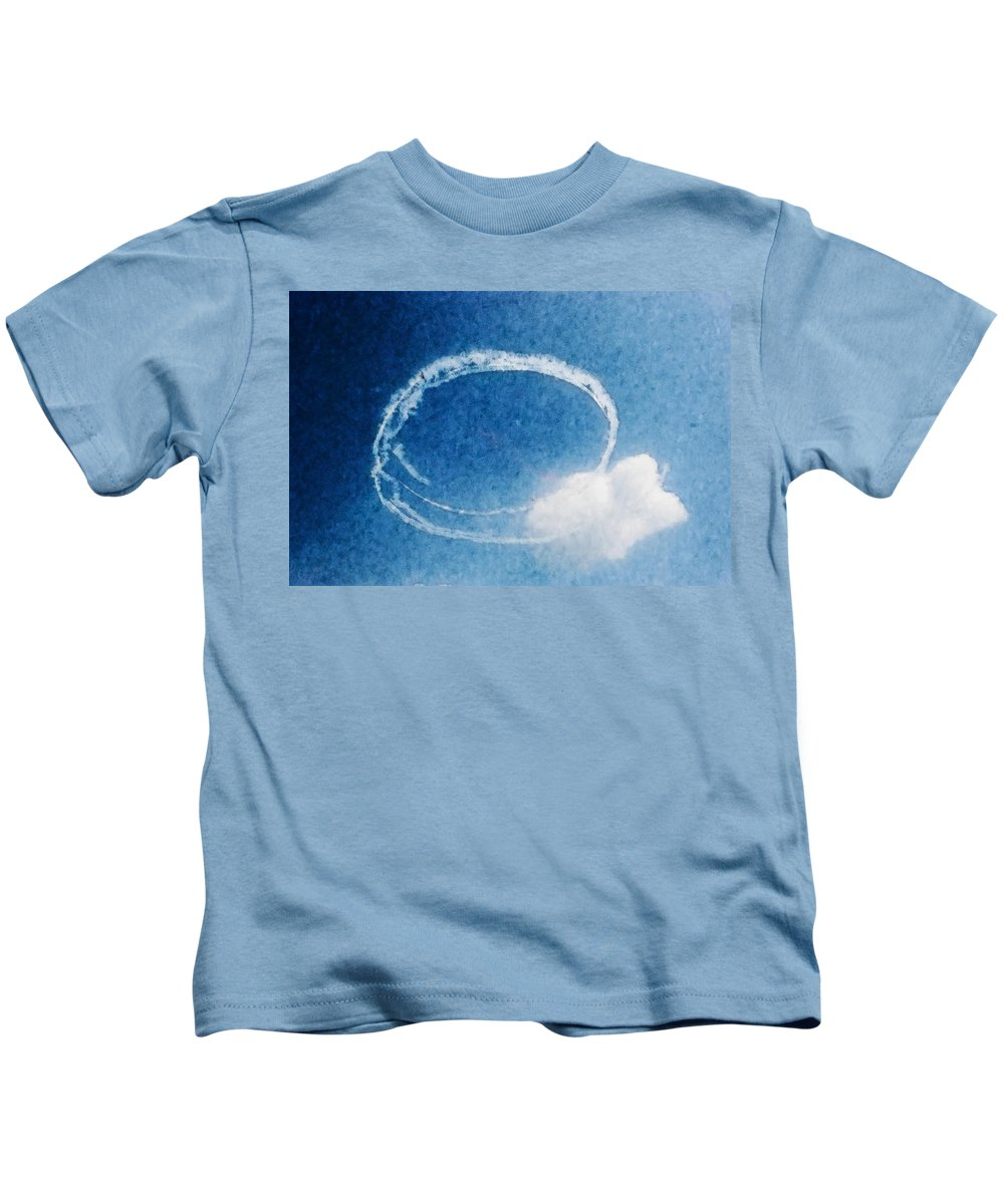 Chicago Kids T-Shirt featuring the digital art 0036 - Air Show - Watercolor by David Lange