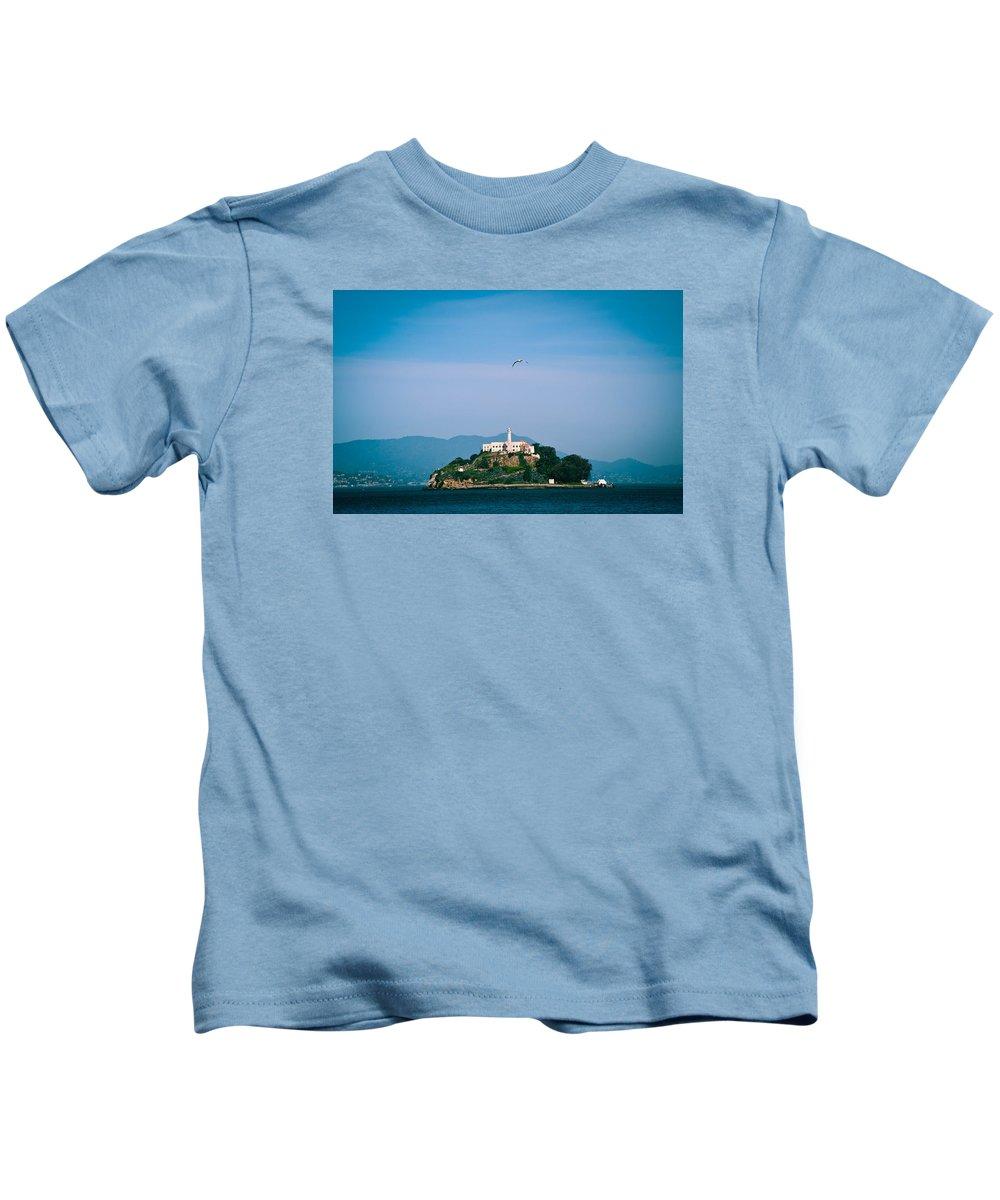 Alcatraz Kids T-Shirt featuring the photograph Alcatraz by Zina Zinchik