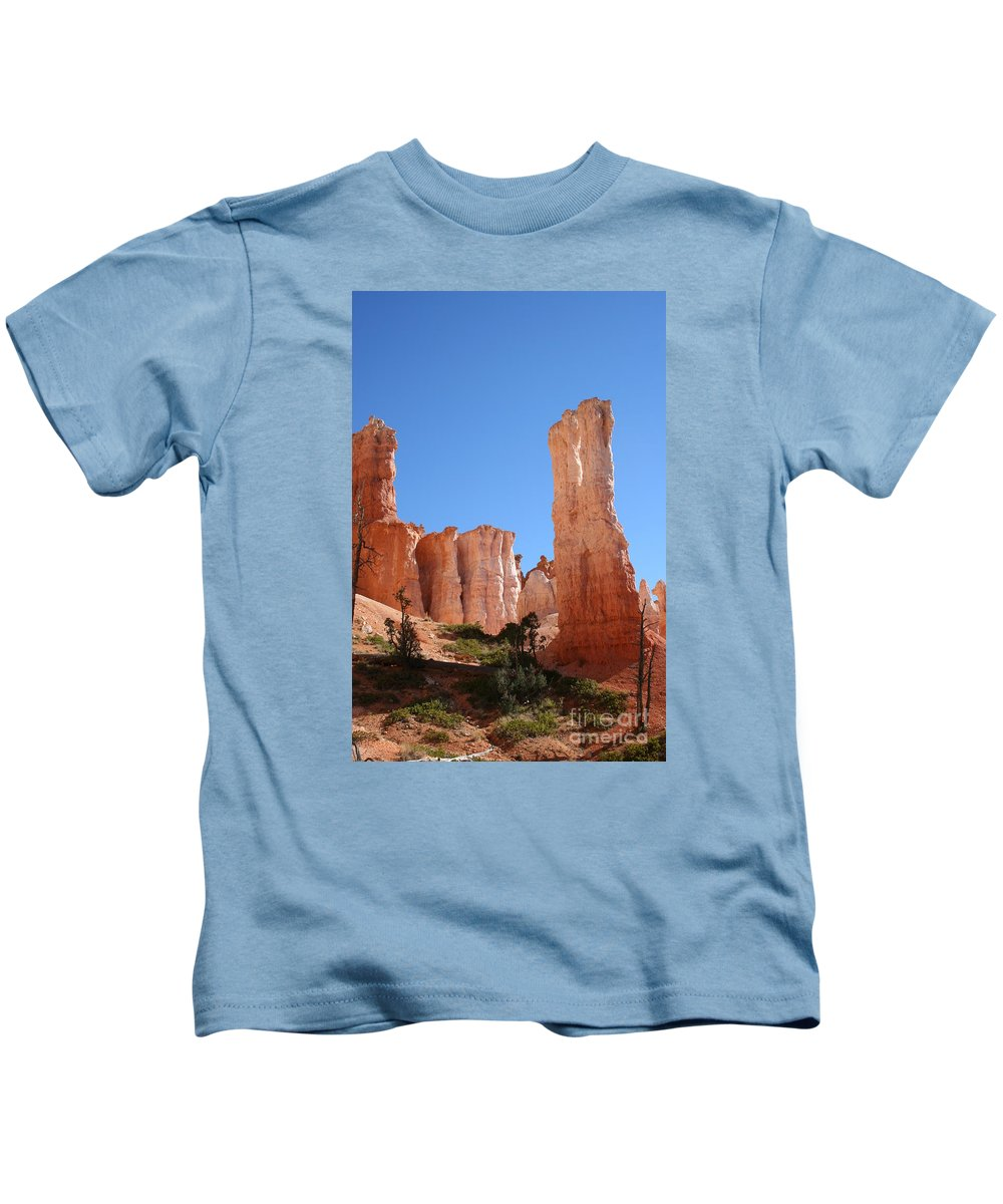 Canyon Kids T-Shirt featuring the photograph Bryce Canyon Fins by Christiane Schulze Art And Photography