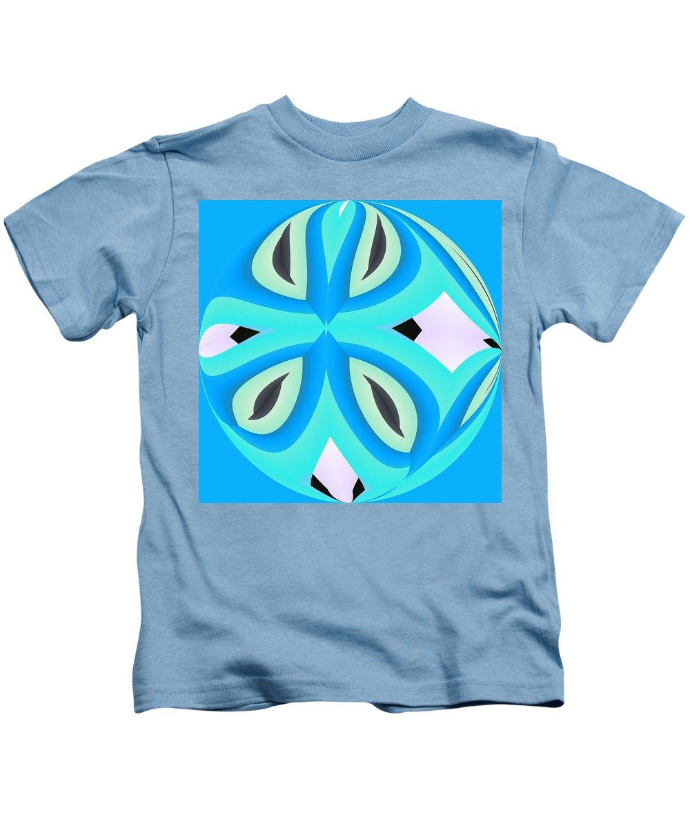 Blue Kids T-Shirt featuring the digital art Canada by John Holfinger