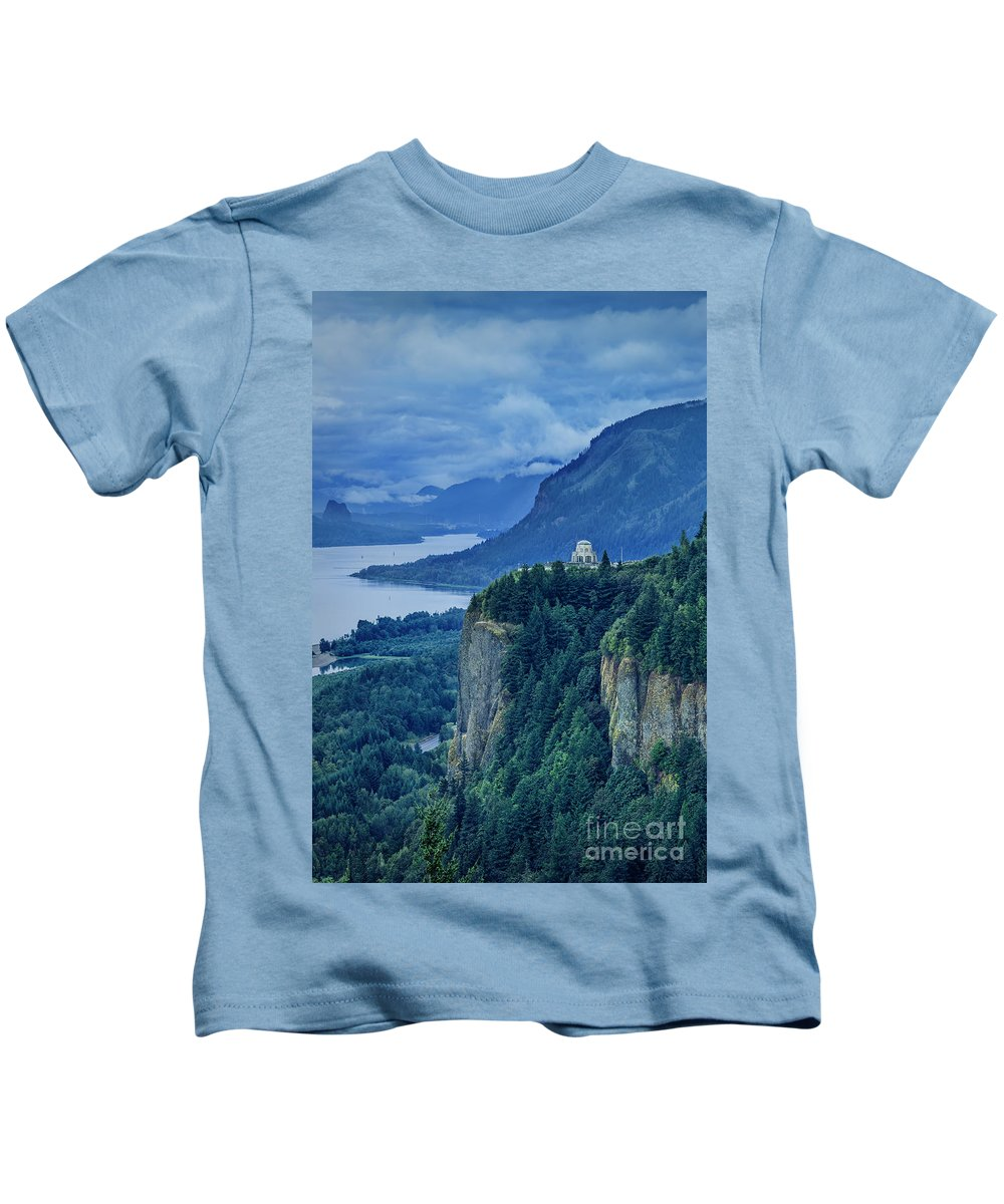 America Kids T-Shirt featuring the photograph Columbia River Gorge by Brian Jannsen