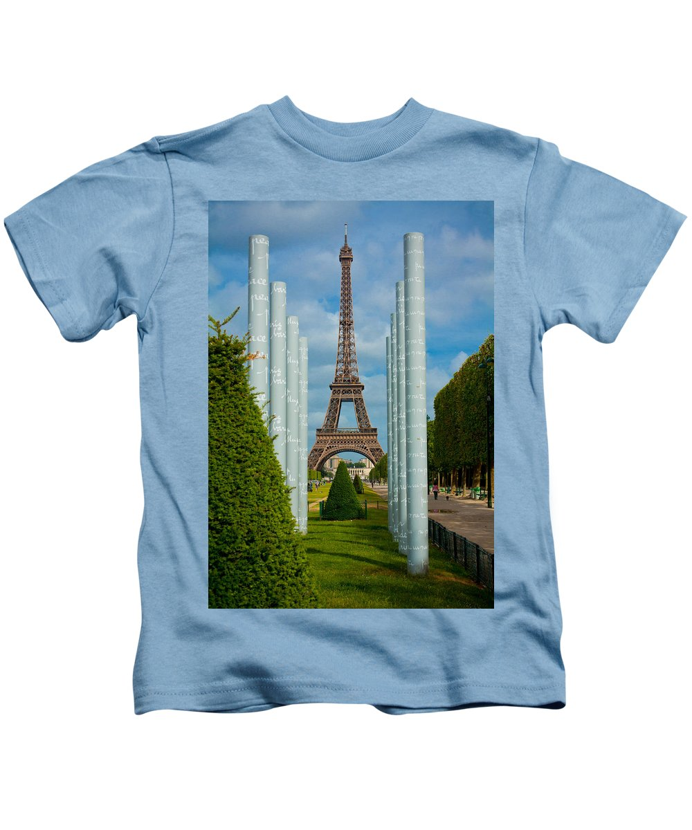 Eiffel Tower Kids T-Shirt featuring the photograph Eiffel Tower by Anthony Doudt