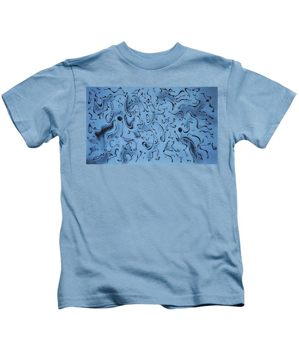 Blumwurks Kids T-Shirt featuring the drawing Hidden by Matthew Blum