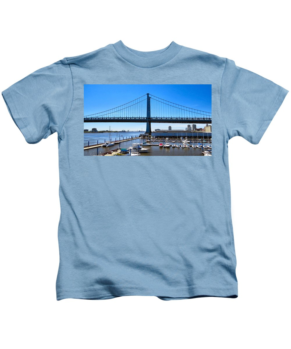 Benjamin Kids T-Shirt featuring the photograph Long Lines by Art Dingo