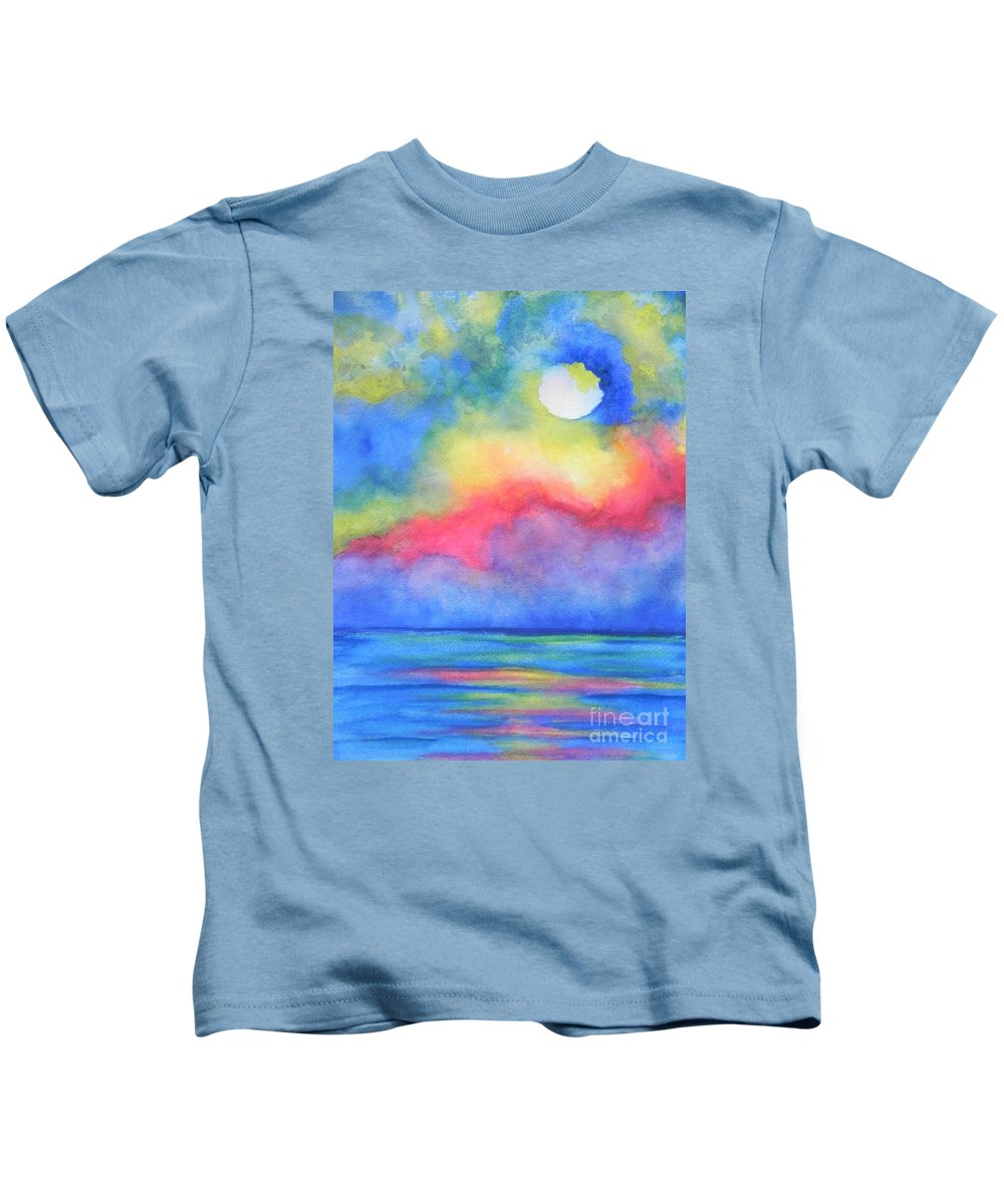 Fine Art Painting Kids T-Shirt featuring the painting Power Of Nature by Chrisann Ellis