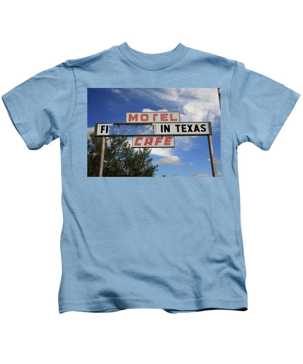 66 Kids T-Shirt featuring the photograph Route 66 - Glenrio Texas by Frank Romeo