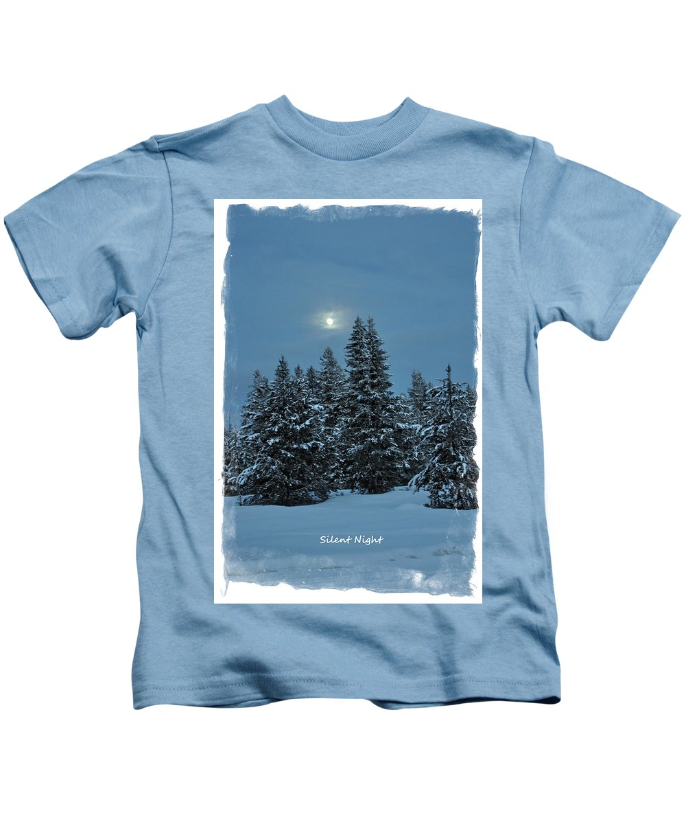 Island Park Kids T-Shirt featuring the photograph Silent Night by Image Takers Photography LLC - Laura Morgan