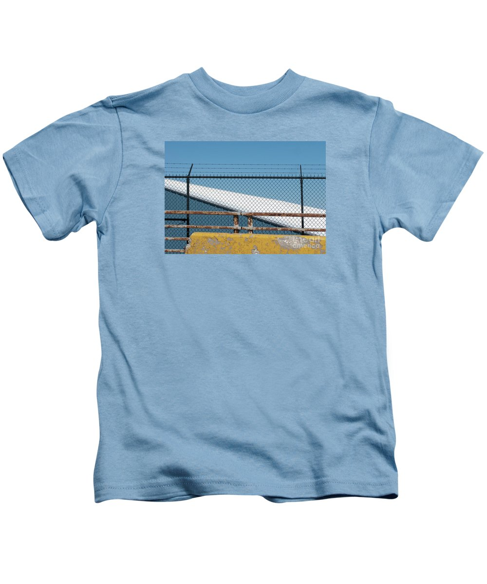 Fence Kids T-Shirt featuring the photograph Stay Out by Ann Horn