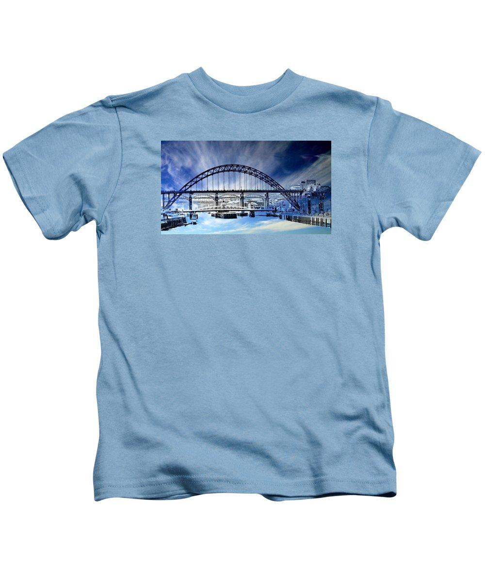 Newcastle Kids T-Shirt featuring the photograph Tyne Bridge by John Lynch