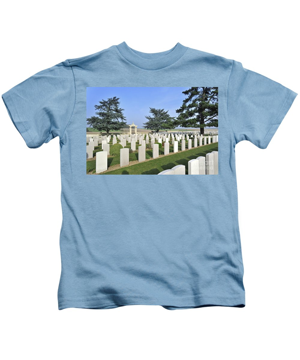 Noyelles-sur-mer Kids T-Shirt featuring the photograph 110307p285 by Arterra Picture Library