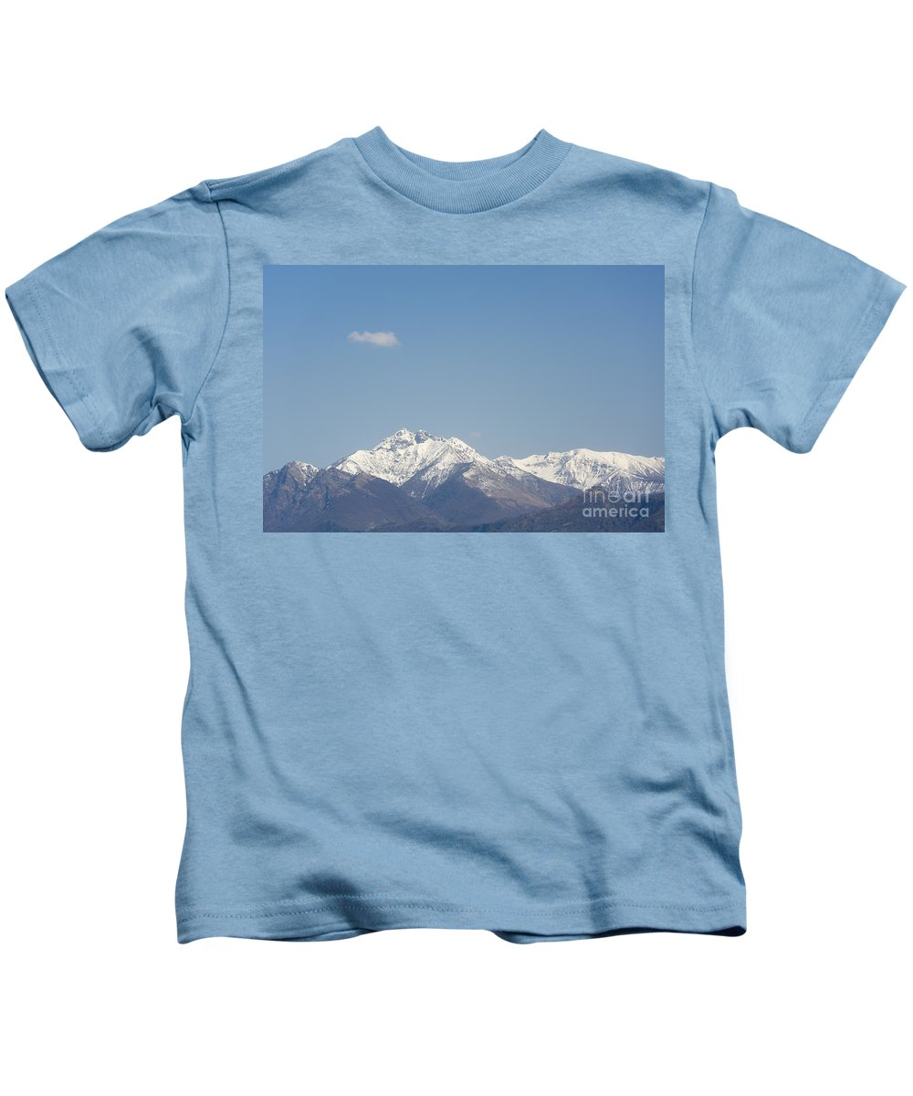 Snow-capped Mountain Kids T-Shirt featuring the photograph Snow-capped Mountain by Mats Silvan