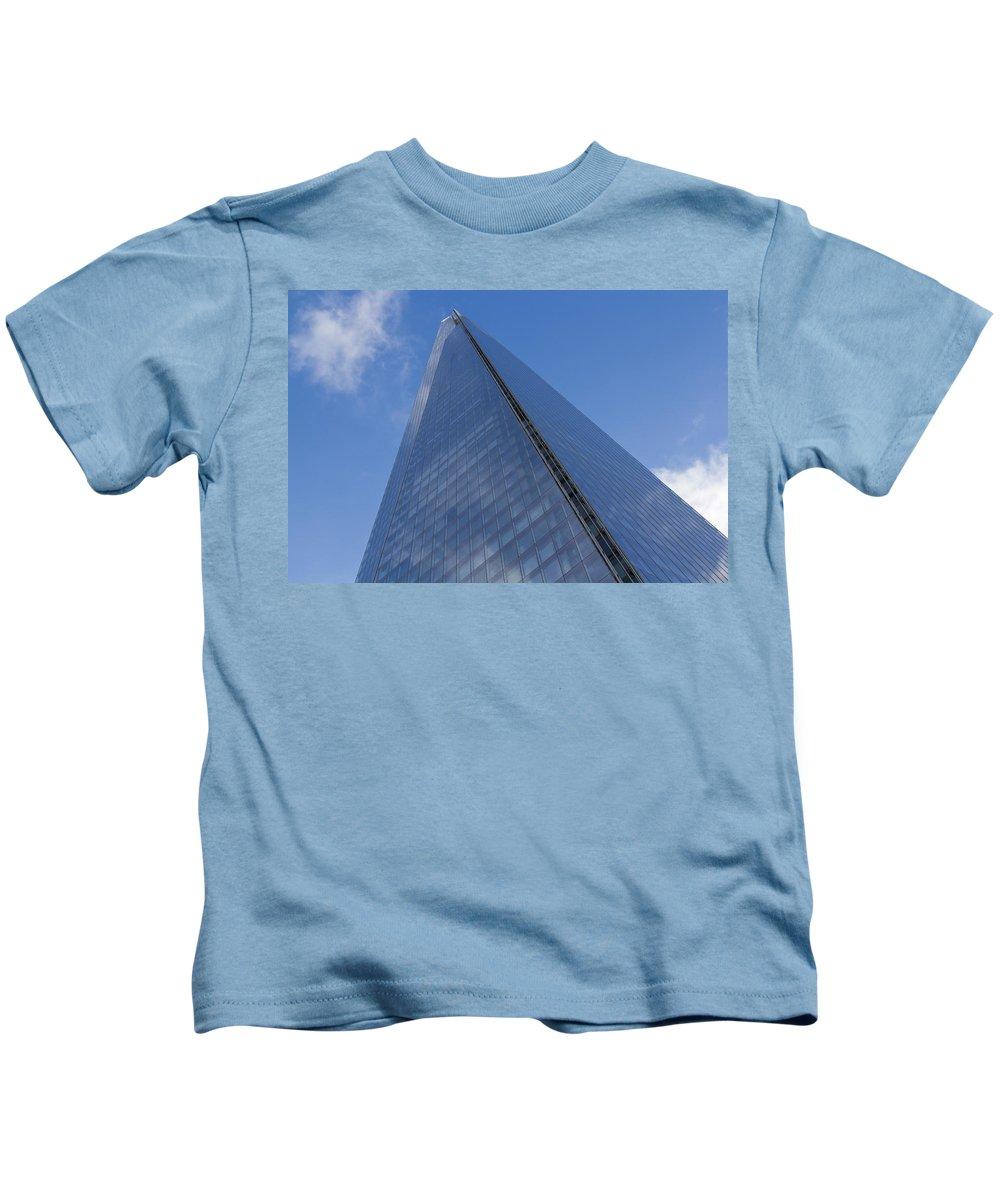 Shard Kids T-Shirt featuring the photograph The Shard London by David Pyatt