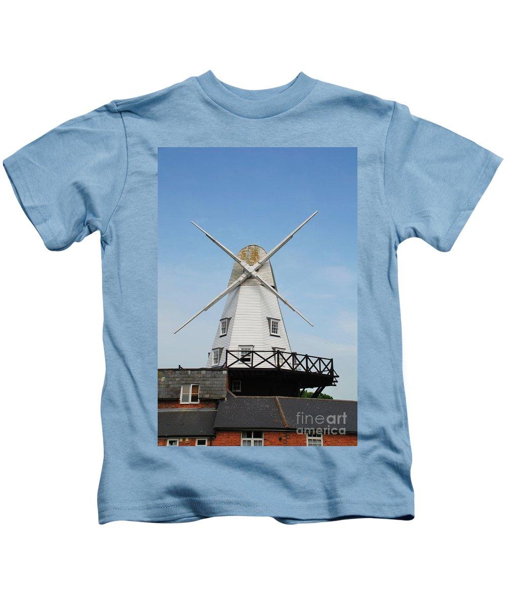 Windmill Kids T-Shirt featuring the photograph Rye Windmill by David Fowler