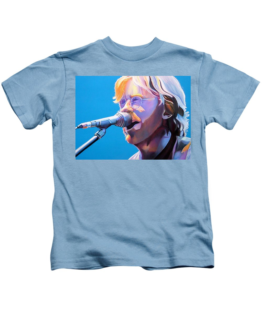 Phish Kids T-Shirt featuring the drawing Trey Anastasio by Joshua Morton