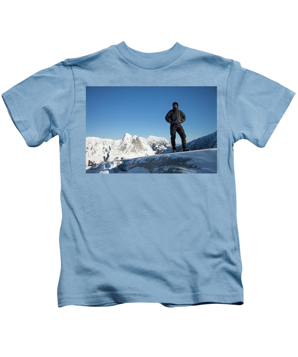 Yak Peak Kids T-Shirt featuring the photograph Mountaineering by Christopher Kimmel