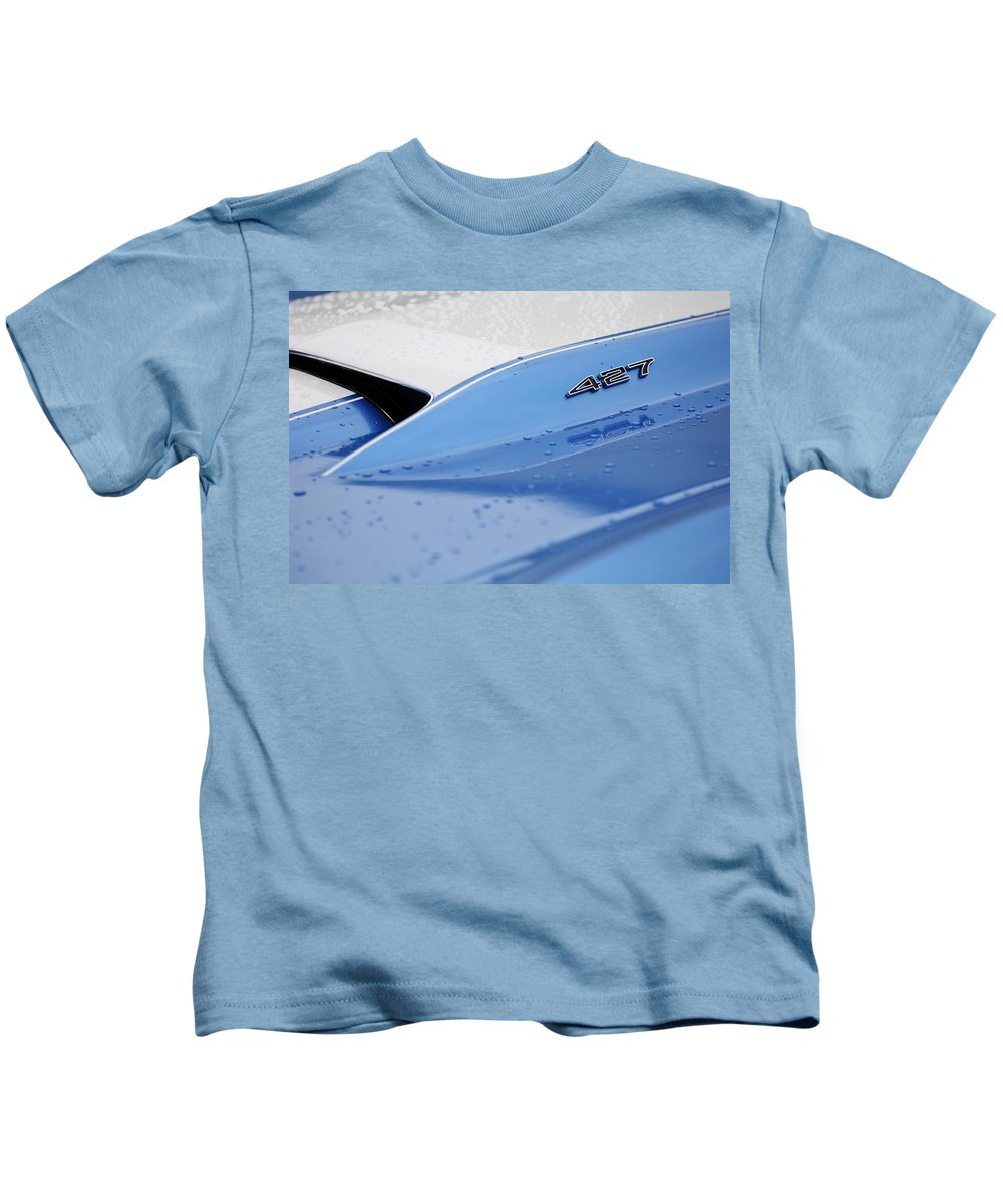 1967 Chevrolet Corvette Kids T-Shirt featuring the photograph 1967 Chevrolet Corvette 427 Hood Emblem by Jill Reger
