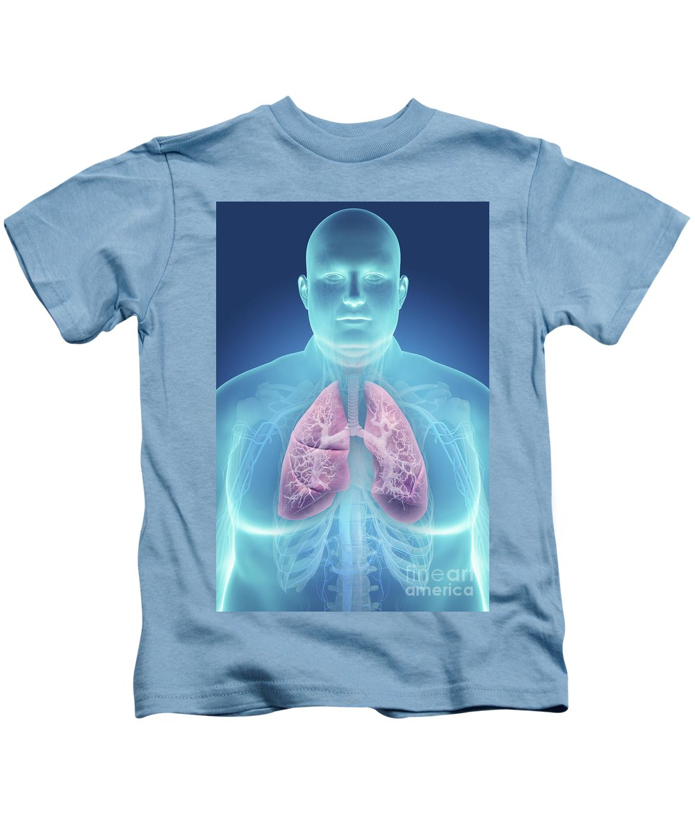 Thorax Kids T-Shirt featuring the photograph Obesity by Science Picture Co