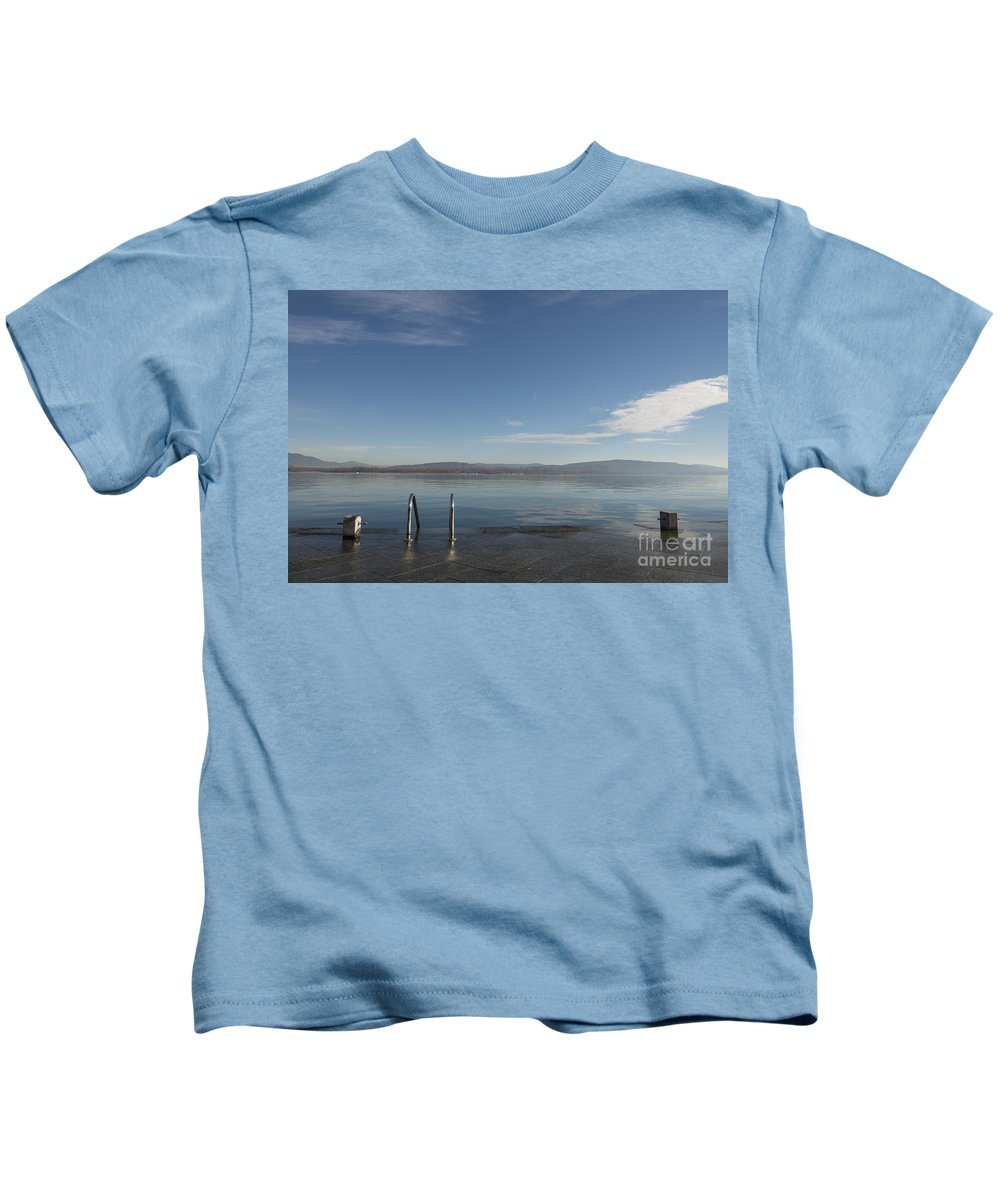 Lake Kids T-Shirt featuring the photograph Lakefront by Mats Silvan