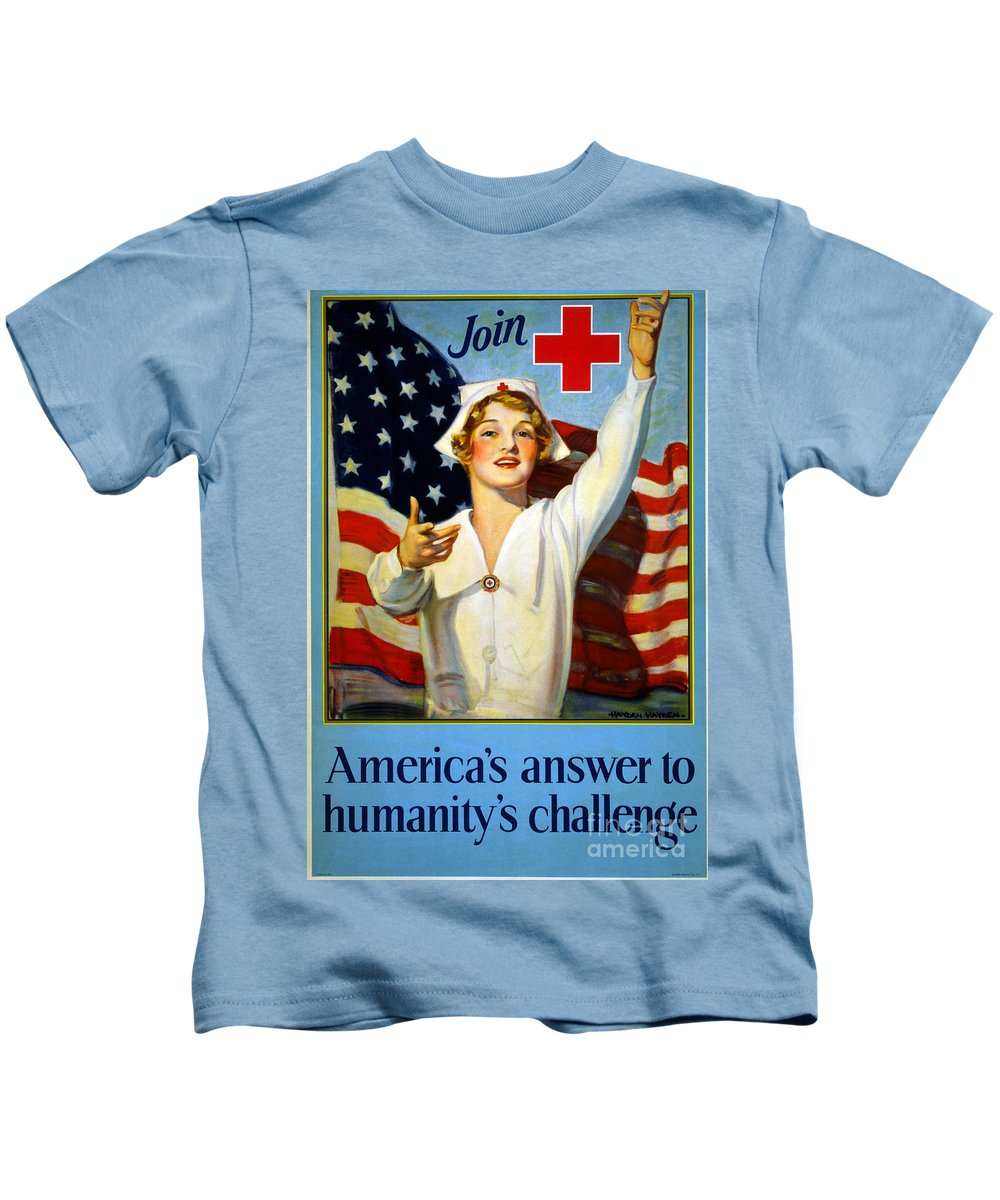 1917 Kids T-Shirt featuring the photograph Red Cross Poster, 1917 by Granger