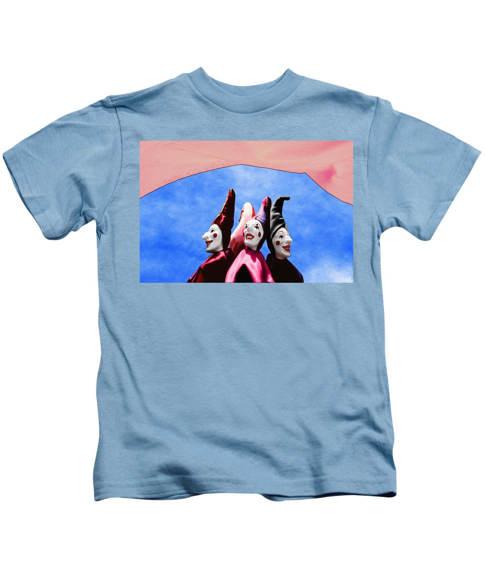 Comical Kids T-Shirt featuring the photograph A Bevy Of Jesters by Paul Wear