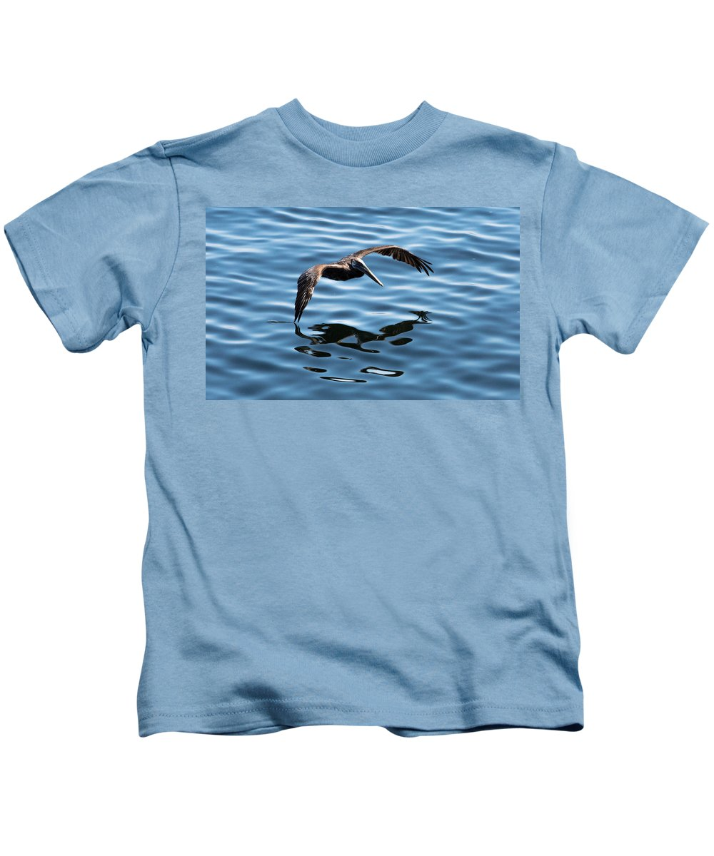 Pelican Kids T-Shirt featuring the photograph A Dip In The Pool by John Daly