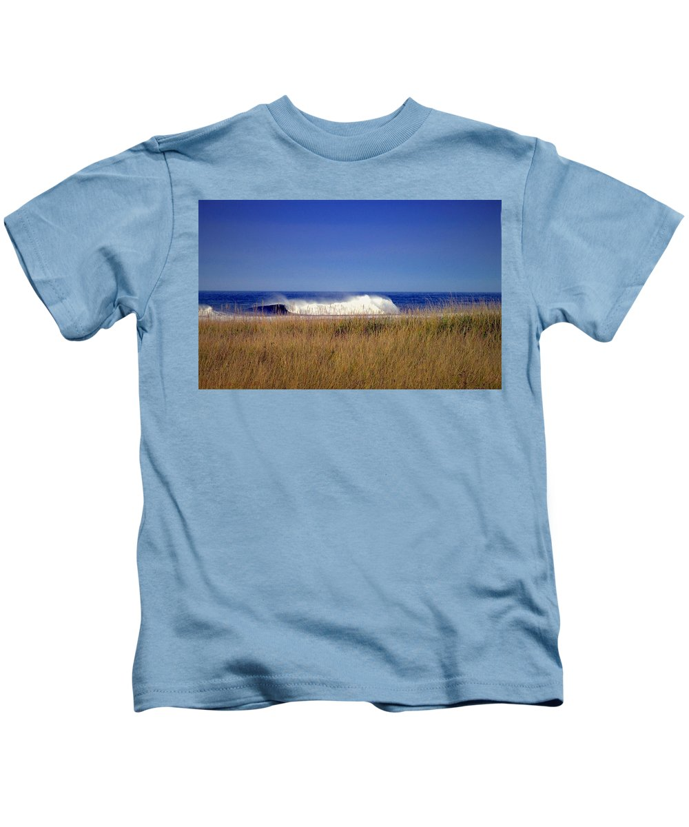 Ocean Kids T-Shirt featuring the photograph A Force To Be Reckoned With by Joyce Dickens