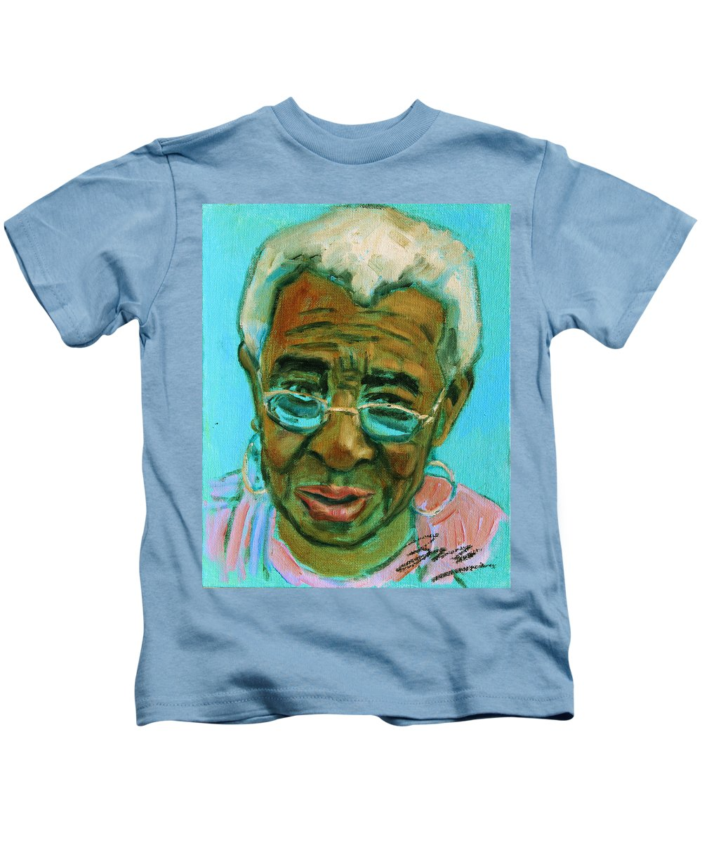 African American Kids T-Shirt featuring the painting African American 6 by Xueling Zou