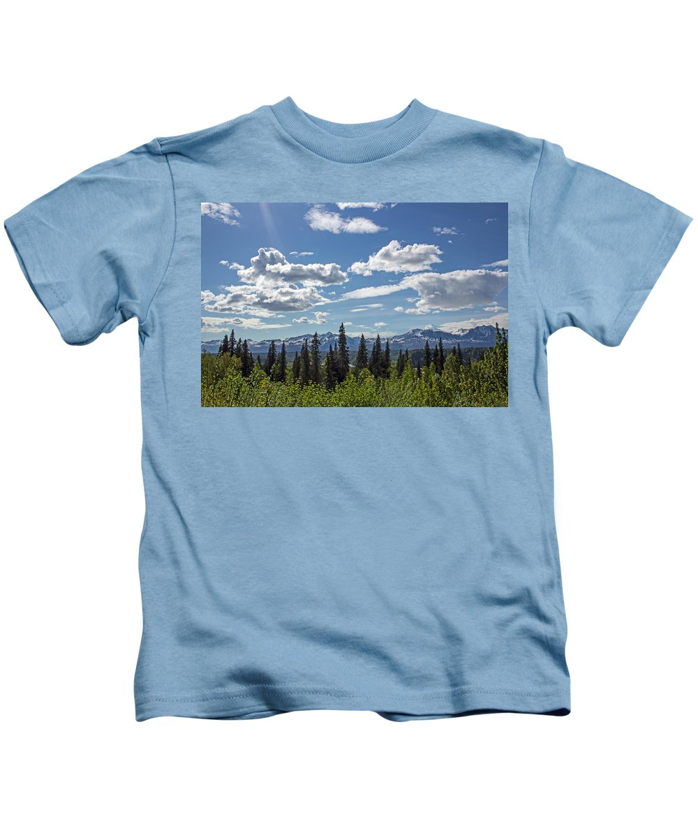 Alaska Kids T-Shirt featuring the photograph Alaska Range IIi by Angie Schutt