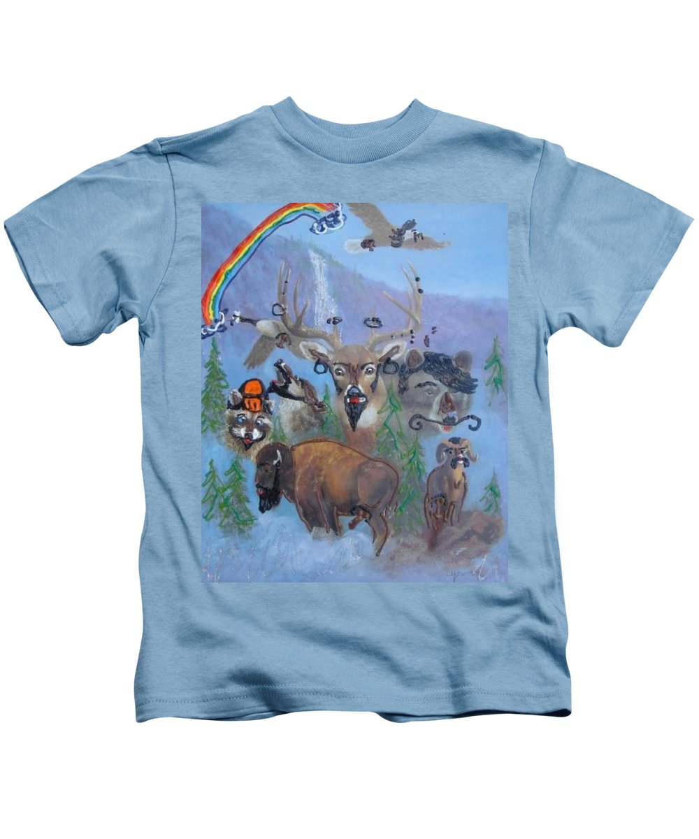 Dear Kids T-Shirt featuring the painting Animal Equality by Lisa Piper