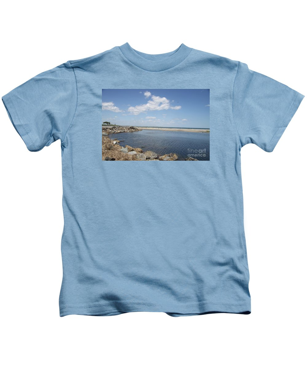 Bay Kids T-Shirt featuring the photograph At The Bay by Christiane Schulze Art And Photography