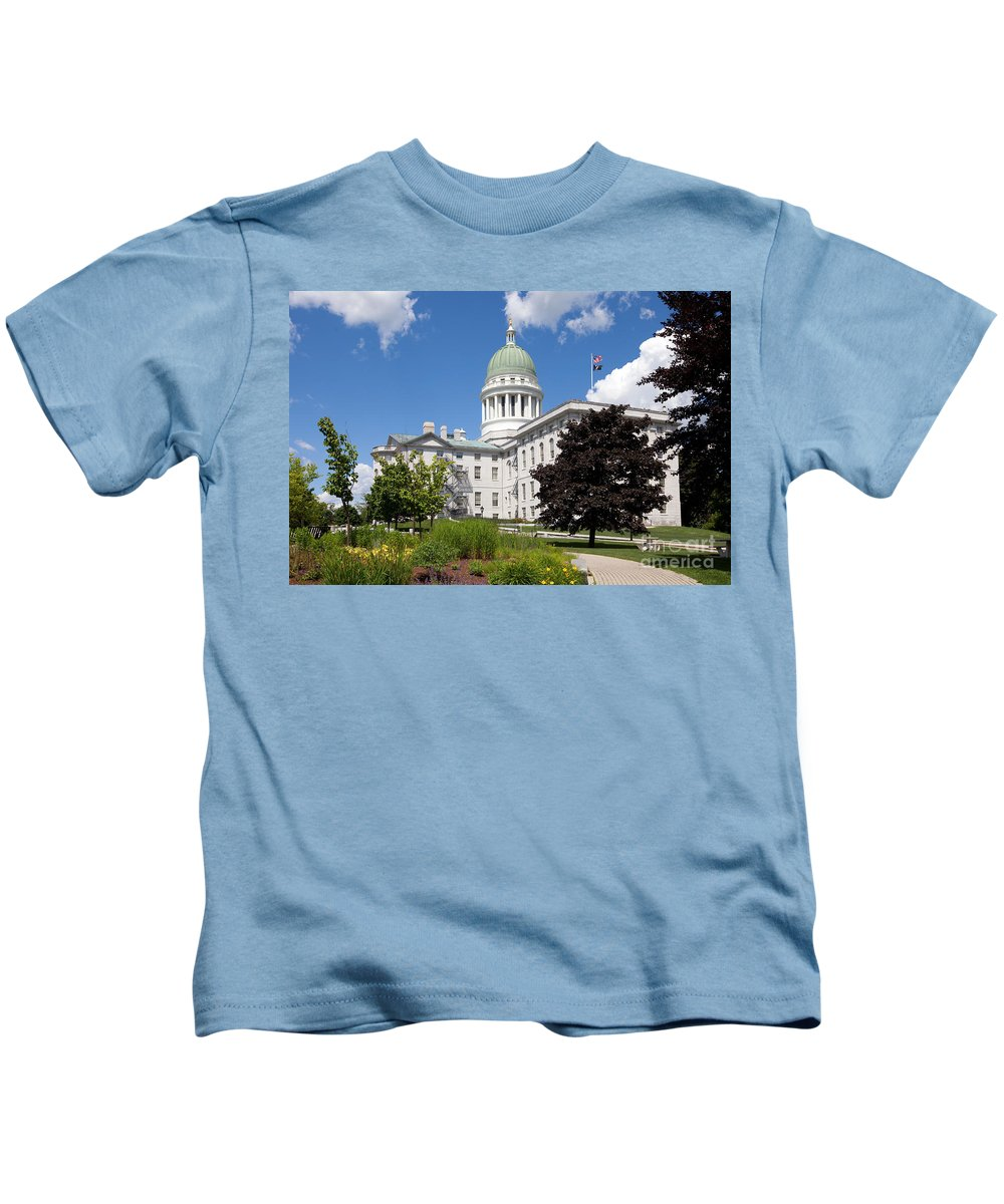 Capitol Building Kids T-Shirt featuring the photograph Augustacapitol Building by Bill Cobb