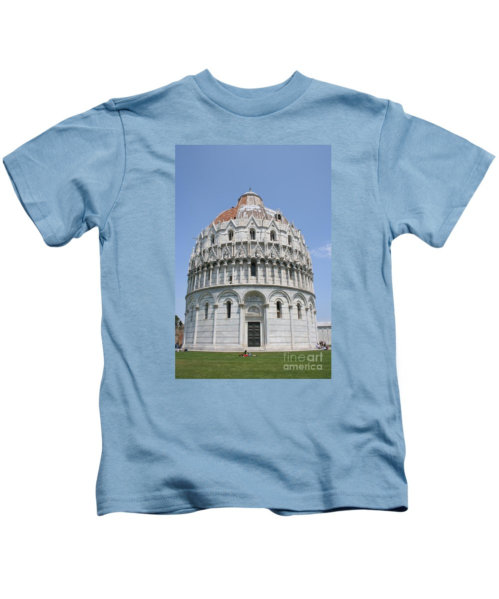 Baptistery Kids T-Shirt featuring the photograph Baptistery Pisa by Christiane Schulze Art And Photography