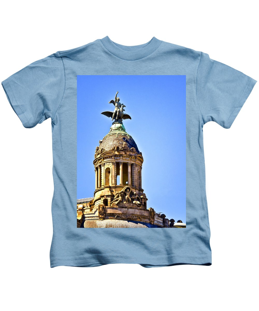 Barcelona Kids T-Shirt featuring the photograph Barcelona Dome by Jon Berghoff