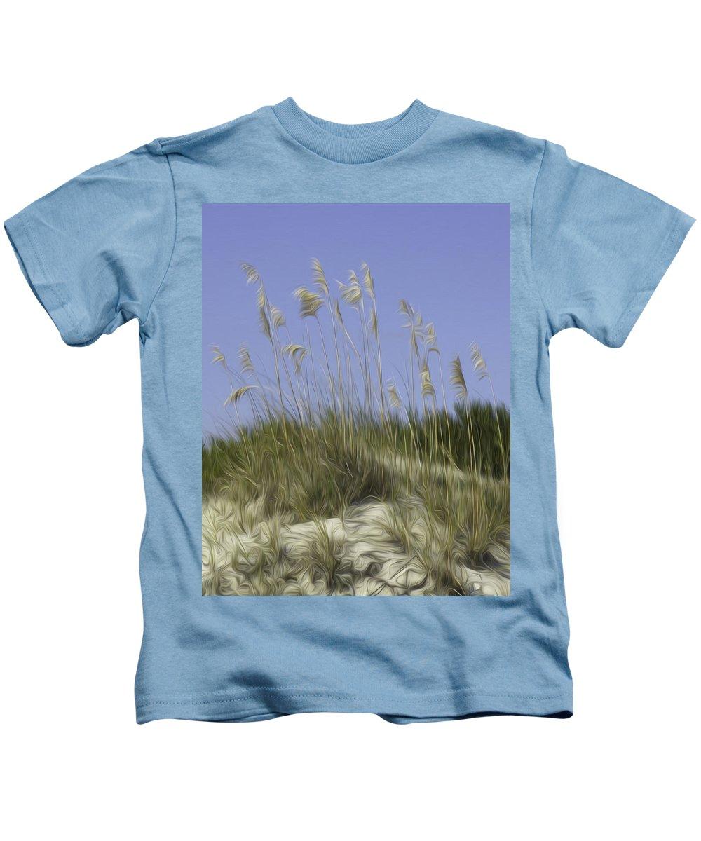 Beach Kids T-Shirt featuring the photograph Beach Dune Pixelated by James Ekstrom