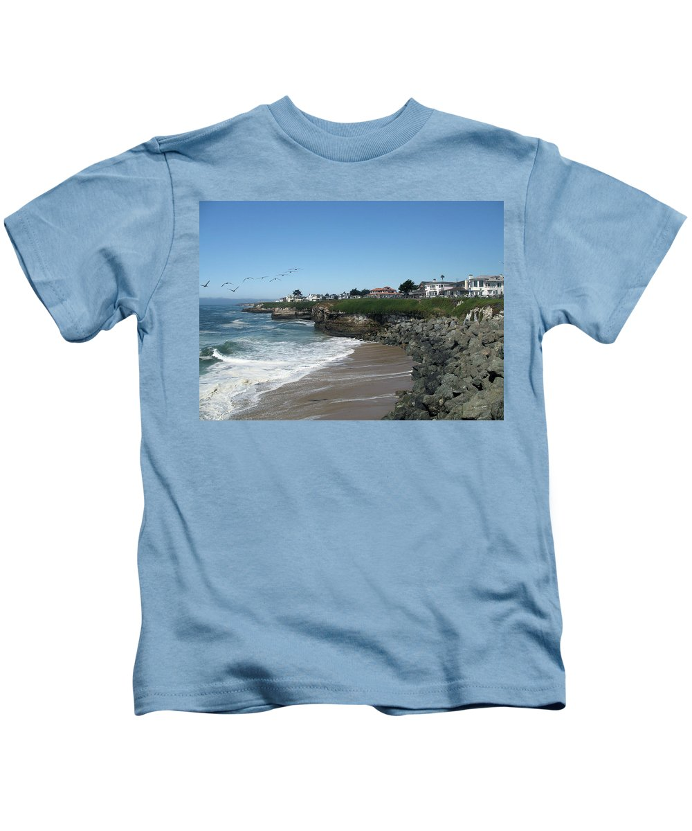California Kids T-Shirt featuring the photograph Beautiful Santa Cruz Coast by Christiane Schulze Art And Photography
