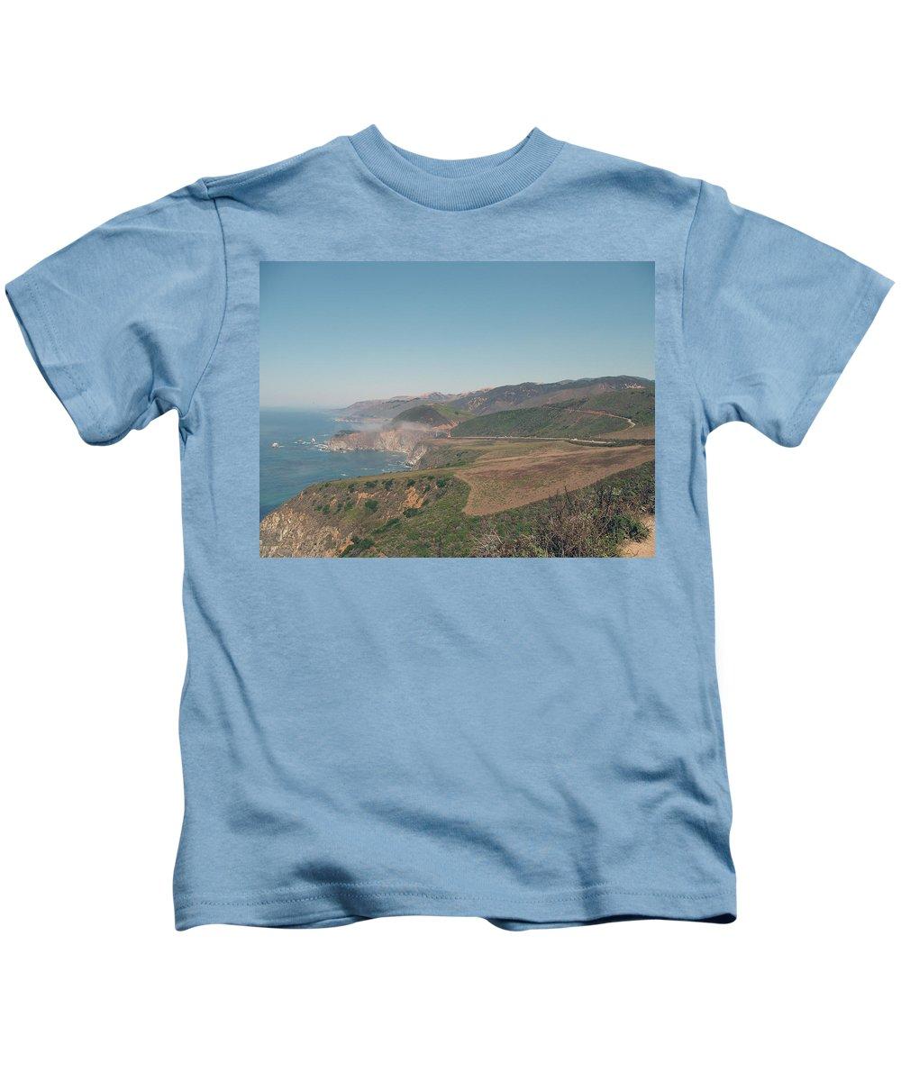 Big Sur Kids T-Shirt featuring the photograph Big Sur Coastline by Christiane Schulze Art And Photography