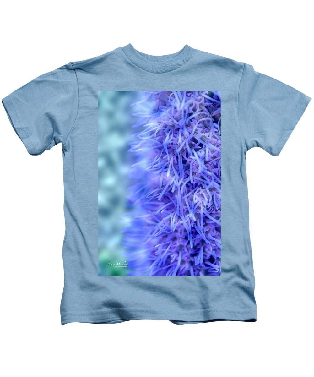 Blazing Star Kids T-Shirt featuring the photograph Blazing Star - Liatris by Mary Machare