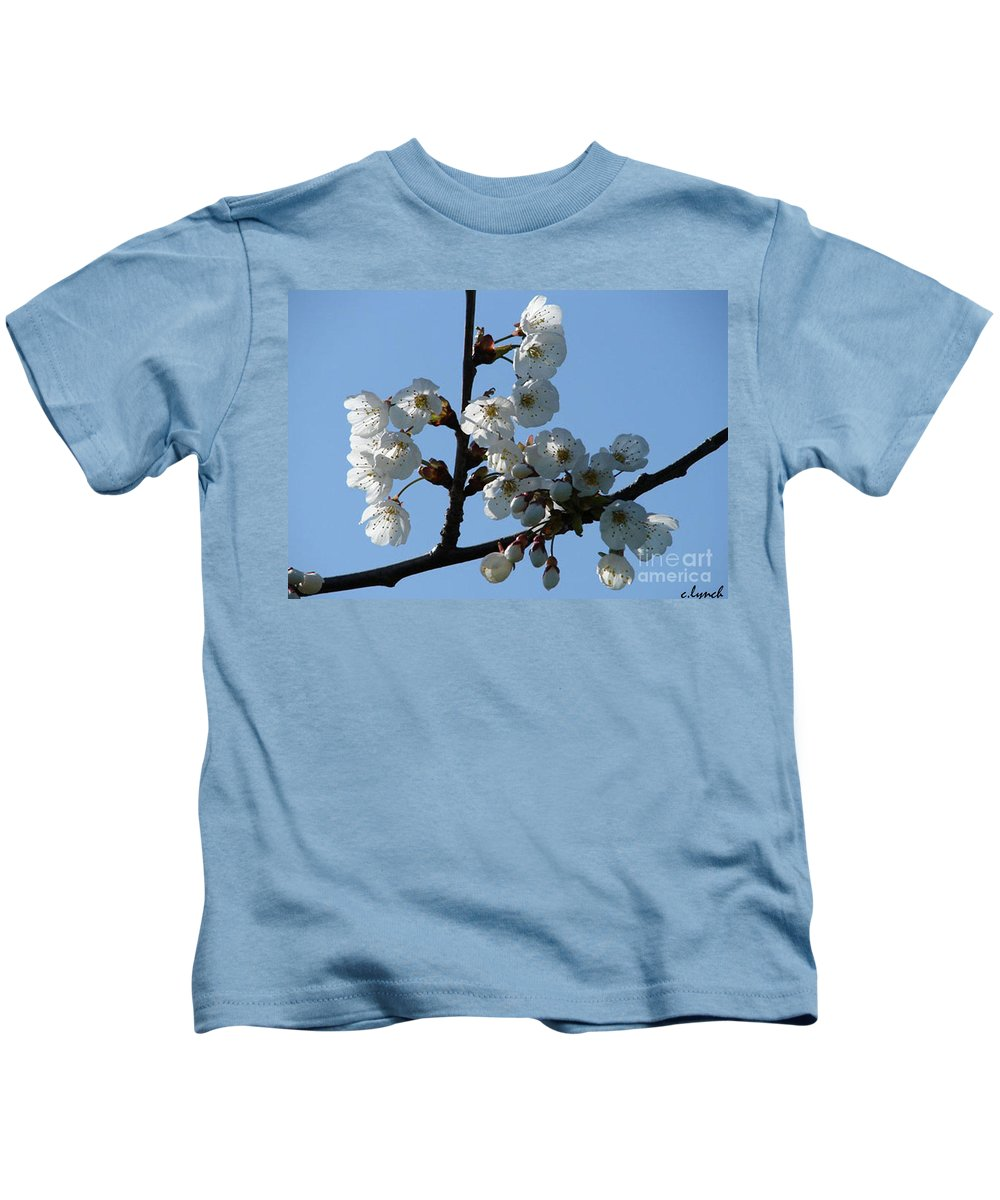 Blossoms Kids T-Shirt featuring the photograph Blossoms by Carol Lynch