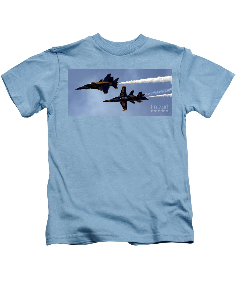 Jet Kids T-Shirt featuring the photograph Blue Angel Demonstration by Kevin Fortier
