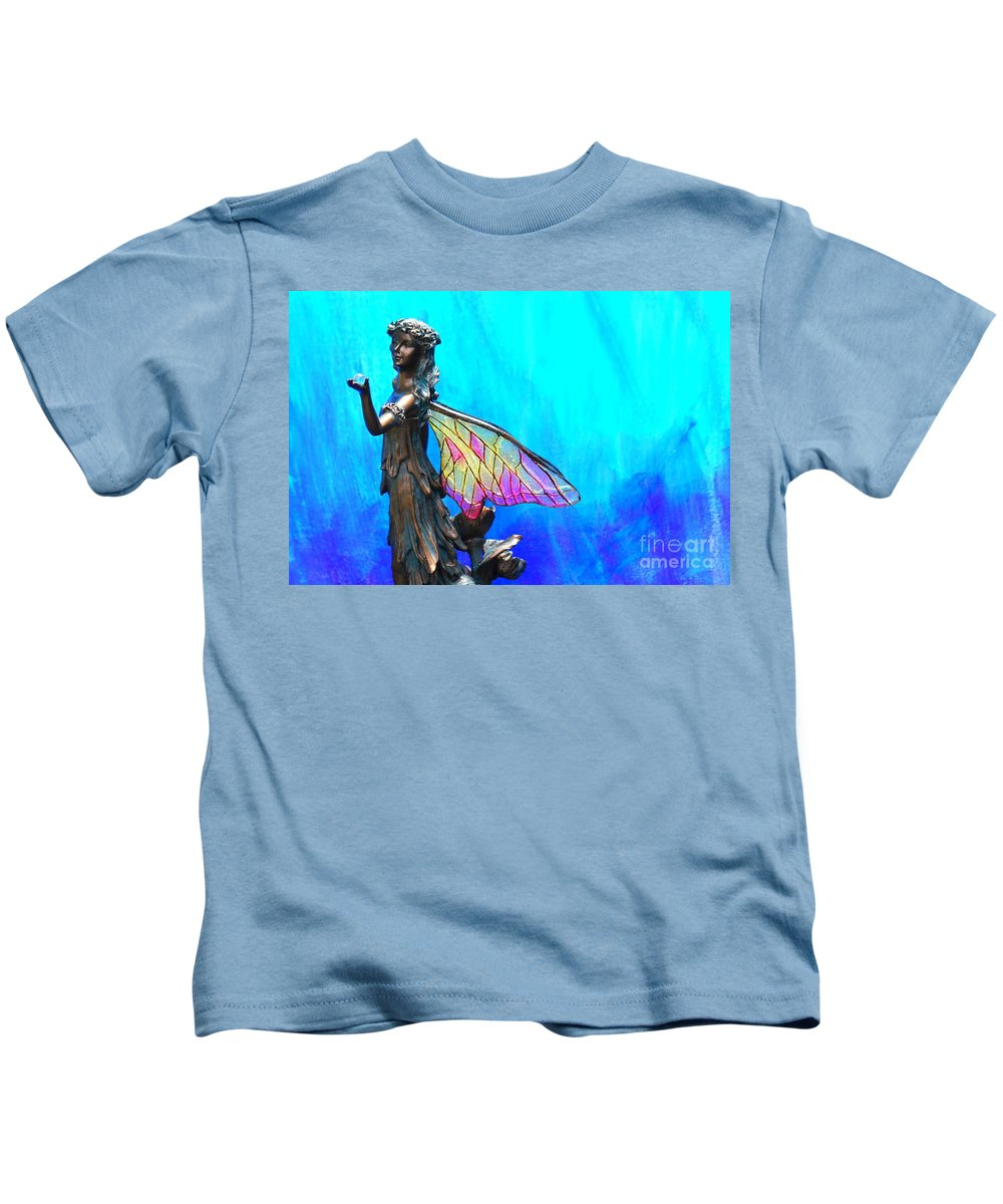 Blue Fairy Kids T-Shirt featuring the photograph Blue Fairy by Pharaoh Martin
