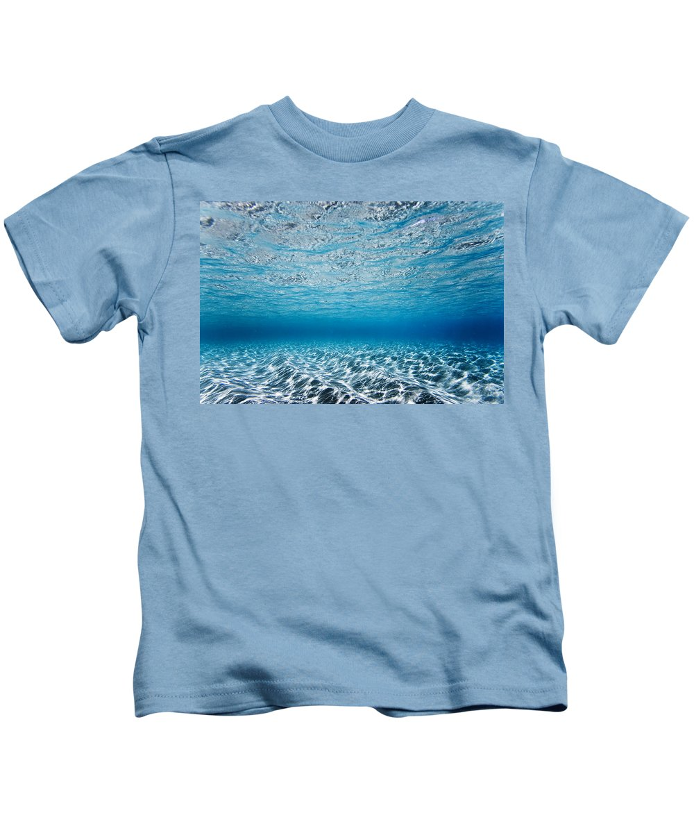 Nature Kids T-Shirt featuring the photograph Blue Sea by Sean Davey