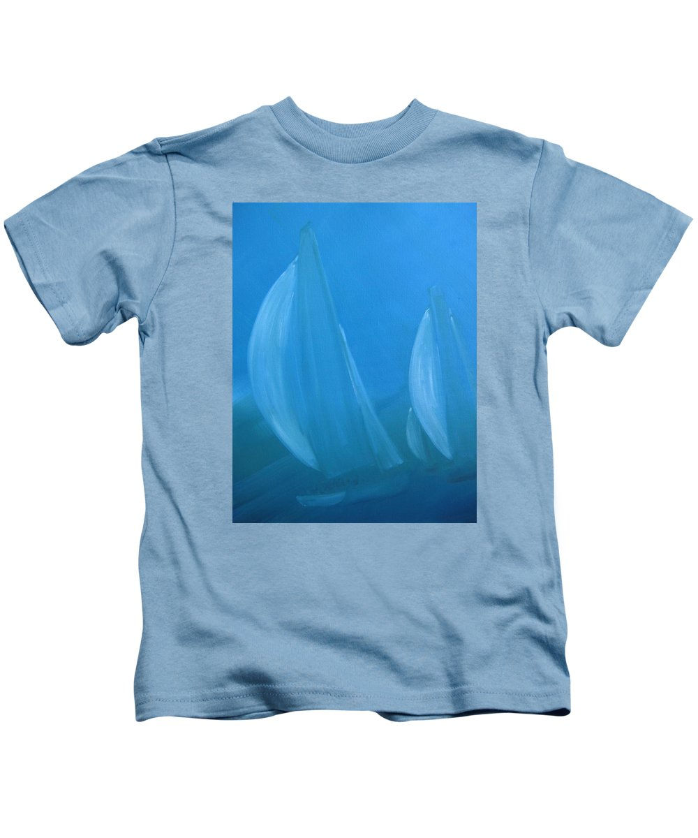 Sail Kids T-Shirt featuring the painting Blue by Susan Richardson