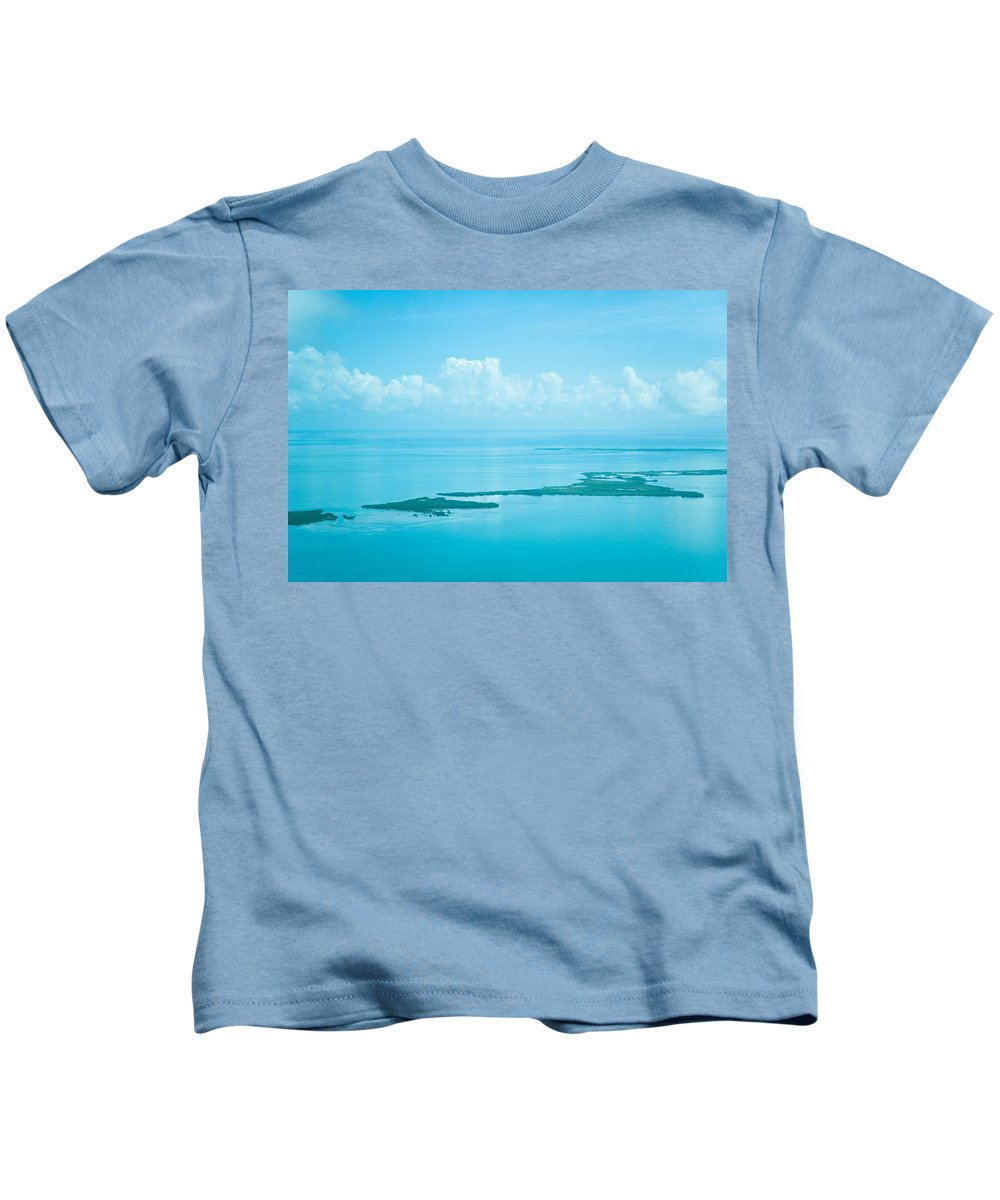 Belize Kids T-Shirt featuring the photograph Blue Serenity by Zina Zinchik