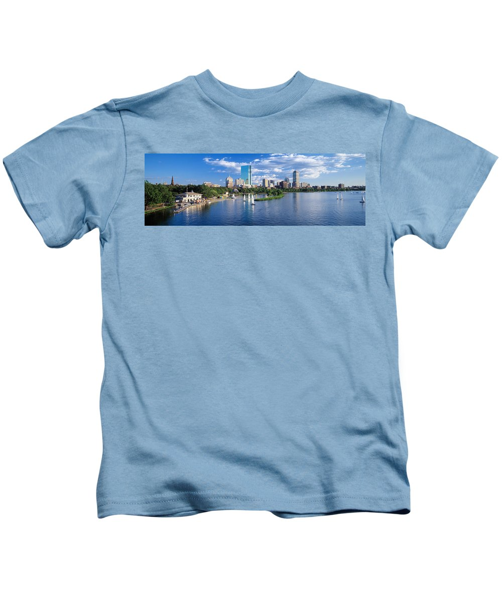 Photography Kids T-Shirt featuring the photograph Boston, Massachusetts, Usa by Panoramic Images