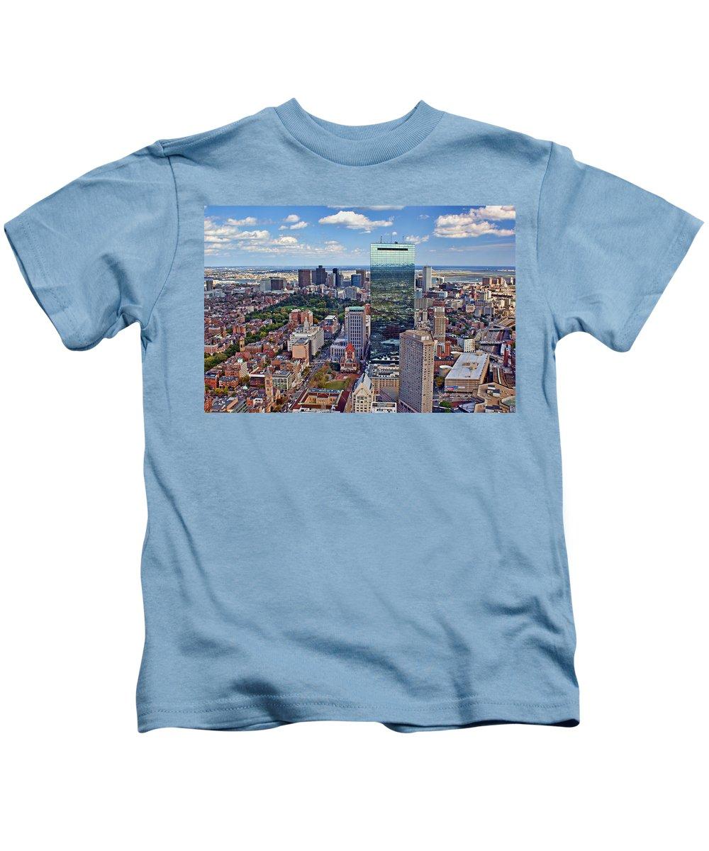 Boston Kids T-Shirt featuring the photograph Boston by Nikolyn McDonald
