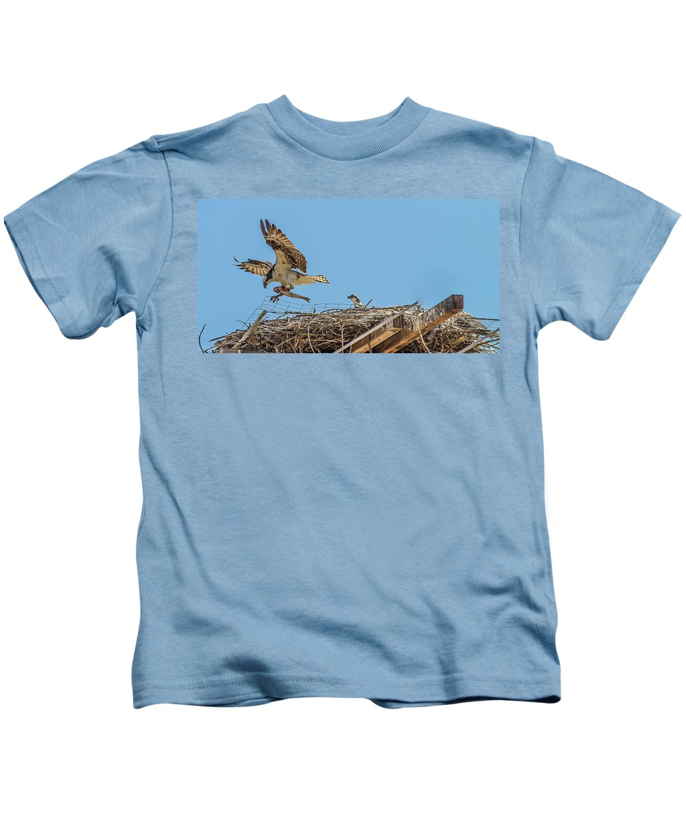 Trout Kids T-Shirt featuring the photograph Breakfest Time by Brian Williamson