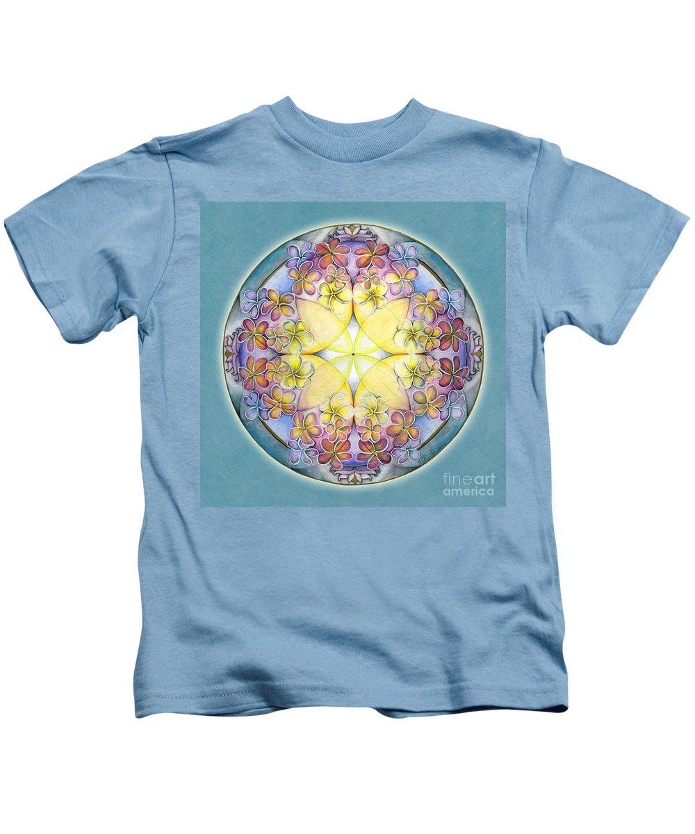 Mandala Art Kids T-Shirt featuring the painting Breath Of Life Mandala by Jo Thomas Blaine