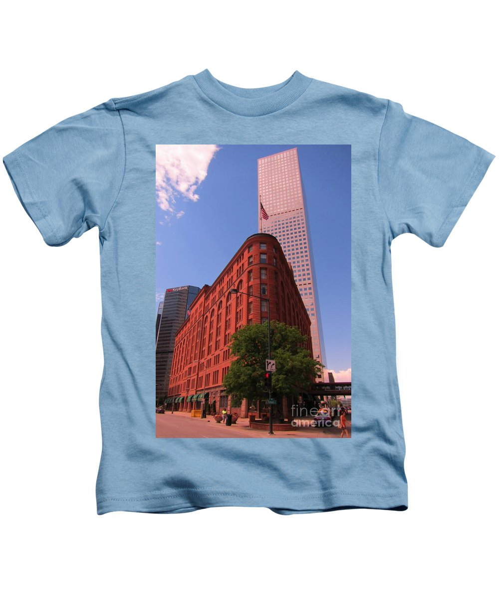 Brown Palace Hotel Kids T-Shirt featuring the photograph Brown Palace Hotel In Denver Colorado by John Malone