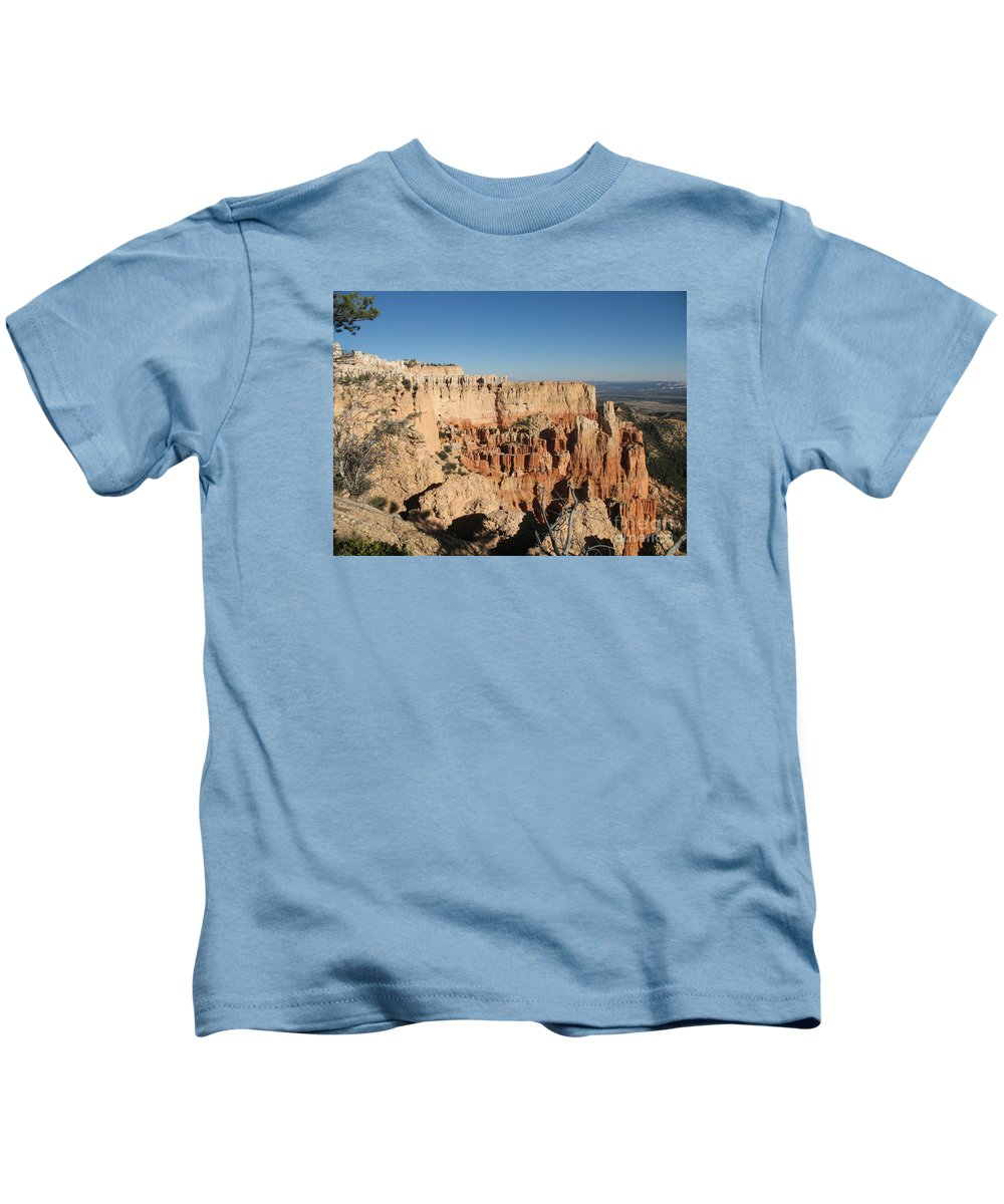 Rocks Kids T-Shirt featuring the photograph Bryce Canyon Scenic View by Christiane Schulze Art And Photography