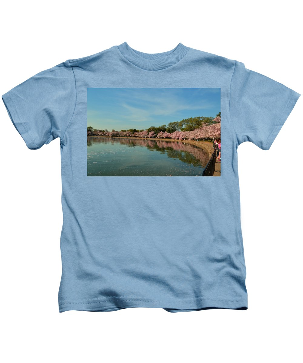 Architectural Kids T-Shirt featuring the photograph Cherry Blossoms 2013 - 087 by Metro DC Photography